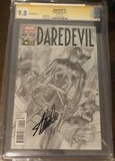 Daredevil 1 - Cgc Ss 9.8 - Alex Ross 1300 Variant - Signed Stan Lee