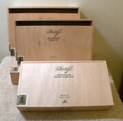 Out Of Room4 Large Davidoff Wooden Cigar Boxes For 6 1.50 Per Box