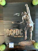 Angus Young Signed Stiff Upper Lip 18andrdquo X 24andrdquo Poster Ac/dc Beckett Z14809
