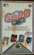 Upper Deck 1991 Edition Baseball Cards - Collectors Choice 36 Packs Sealed Box