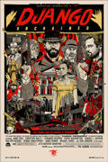 Django Unchained By Tyler Stout - Regular - Sold Out Mondo Print