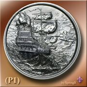 The Storm - Privateer Series 2 Oz Silver Round High Relief Silver Round Spring9
