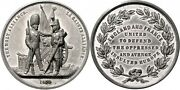 Ottoman - France - England , Alliance Tin Medal By Pinches 1854 - W , Rare