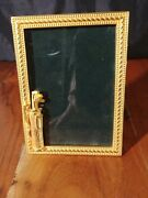 Vntg Pre-owned Elias Picture Frame 1847 18 Kt Gold Gilded Silver/pewter Usa