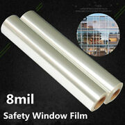 2mil/4mil/8mil/12mil Safety Window Film House/bank Glass Sticker Roll 100ft