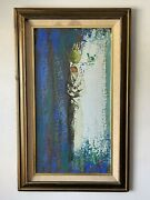Jacques Henri Guyot French Modern Oil Painting 1960 Cubist Abstract Woman