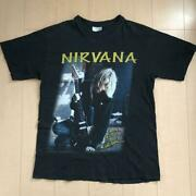 Live Photo Nirvana 90and039s Vintage T-shirt Made In Euro Color Black Size Xl Used