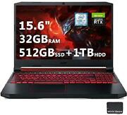 Newest Acer Nitro 5 Gaming Laptop|9th Gen 6-core I7-9750h|15.6 Fhd Ips Display