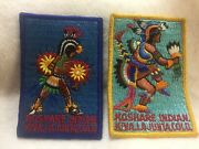 B44 Boy Scouts - Koshare Indians - Colorful Dancer Patches X 2