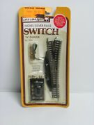 N Guage Scale Life-like Nickel Silver Rails Switch And Electric Remote Control