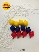 12 Pcs Plastic Spinning Top Tops Toy Adult Kid Trompo Trompos Cord Con Cabuya