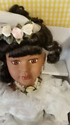 African American Bride Doll By Charnay's Doll House Porcelain 27 In Box Rare