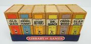 5e Library Of Games Card Game Set 6 Different A Big-little Games Vintage