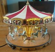 2004 Mr Christmas World's Fair Carousel Gold Label Collection W/box - Working