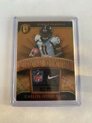 2017-18 Gold Standard Carlos Henderson 1/1 Newly Minted Rookie Tag Card Broncos