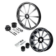 21and039and039 Front Wheel Rim Hub 18and039and039 Rear Set Fit For Harley Touring Street Glide 08+