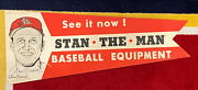 Stan Andldquothe Manandrdquo Musial Signed Vintage Rare Advertising Sign St. Louis Cardinals