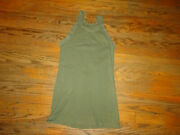 Vintage Us Army Military Undershirt Green Tank Top T Shirt Wwii Sz S