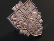 Wwi Military First R.c.s. President Guard Cap Badge Coat Arms Bohemia Lion