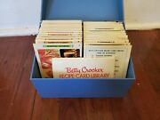 Vintage 1971 - Betty Crocker Recipe Card Library - Rare Blue Box - With Index