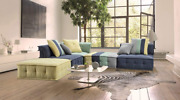 Limari Home Jaffe Collection Modern Style Living Room Cotton Fabric Sectional So