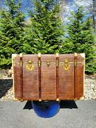 Exceptional Antique French Travel Trunk Steamer Vintage