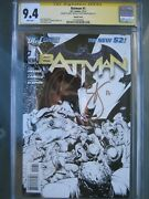 Batman 1 Sketch Cover Cgc 9.4 Wp Ss Signed Greg Capullo And Scott Snyder