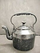 Antique Old Cast Iron T And C Clark And Co. First Quality No.0 3 Pints Tea Kettle