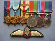 Wwii Group Of 6 Including Air Crew Europe Star And Gsm Malaya Clasp To Wing Cmdr