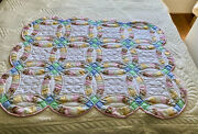 Amish Quilt For Sale Handmade Amish Baby Quilt Double Wedding Ring Quilt