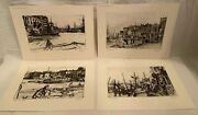 Vintage James Mcneil Whistler Collectorand039s Portfolio Of Etchings No. 1 4 Etchings