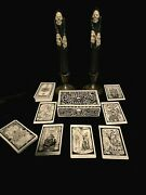 Ouija Box Antique Candle Holders Grim Reaper Candles Tarot Deck Halloween Occult