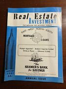 Real Estate Investment January 1961 Modern Trends New York City Nyc Magazine