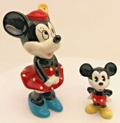 Disney Mickey And Minnie Mouse Figurines Ornaments Made In Japan Collectable
