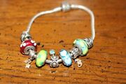 Authentic Pandora Bracelet Retired Charms 14k Gold 925 Sterling Silver