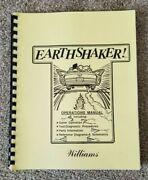 1989 Williams Earthshaker Pinball Operations Manual, Parts Info And Schematics