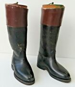 Unique Scale Model Of A Pair Of Leather Riding Boots H= 9 Inc From 1940
