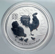 2017 Australia Year Of Rooster Chinese Zodiac Proof Silver Dollar Coin I89922