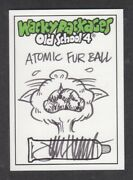 Topps Wacky Packages 2012 Old School 4 Sketch Card Of Cat - Atomic Fur Ball