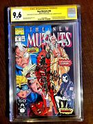 The New Mutants 98 Feb 1991 Marvel Signed And Sketced By Fabien And Claremont