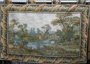 Vintage Large Hanging Wall Tapestry - Scenery - Made In Europe - 56.75'' By 36''