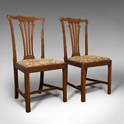Pair Of Antique Side Chairs Mahogany Hall Dining Seat Victorian Circa 1900