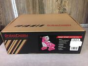 Trac Star Youth Girl's Adjustable Roller Derby Skate White/pink Size Large 3-6