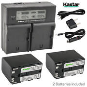 Bp-970g Battery And Lcd Dual Charger For Canon G-1500 G2000 Gl1 Gl-1 Gl2 Gl-2
