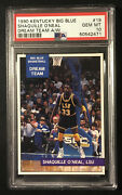 1990 Big Blue Shaquille Oand039neal X Rc Rare Non Perforated Psa 10 Pop 1 Holy Grail