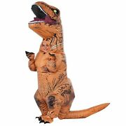 Kid's Inflatable T-rex Costume - Blow Up Jurassic World Dress Up Dinosaur For...