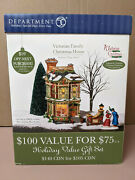Department 56 Victorian Family Christmas House Dickens Village Series Unused
