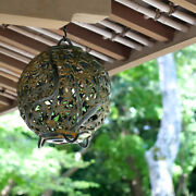 New Takaoka Copperware Hanging Lanterns Autumn Leaves Led 23.5cmandtimes23.5cmandtimesh29cm