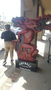 Fireball Whiskey Promotional Standing Display Ad | 6and039 Tall | Bar Rare Life Size