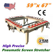 Usa High Precise 59x 67 Pneumatic Screen Stretcher Screen Printing Equipment